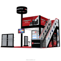 Detian Display offer portable exhibition stand, two storey stand for exhibition display from shanghai factory