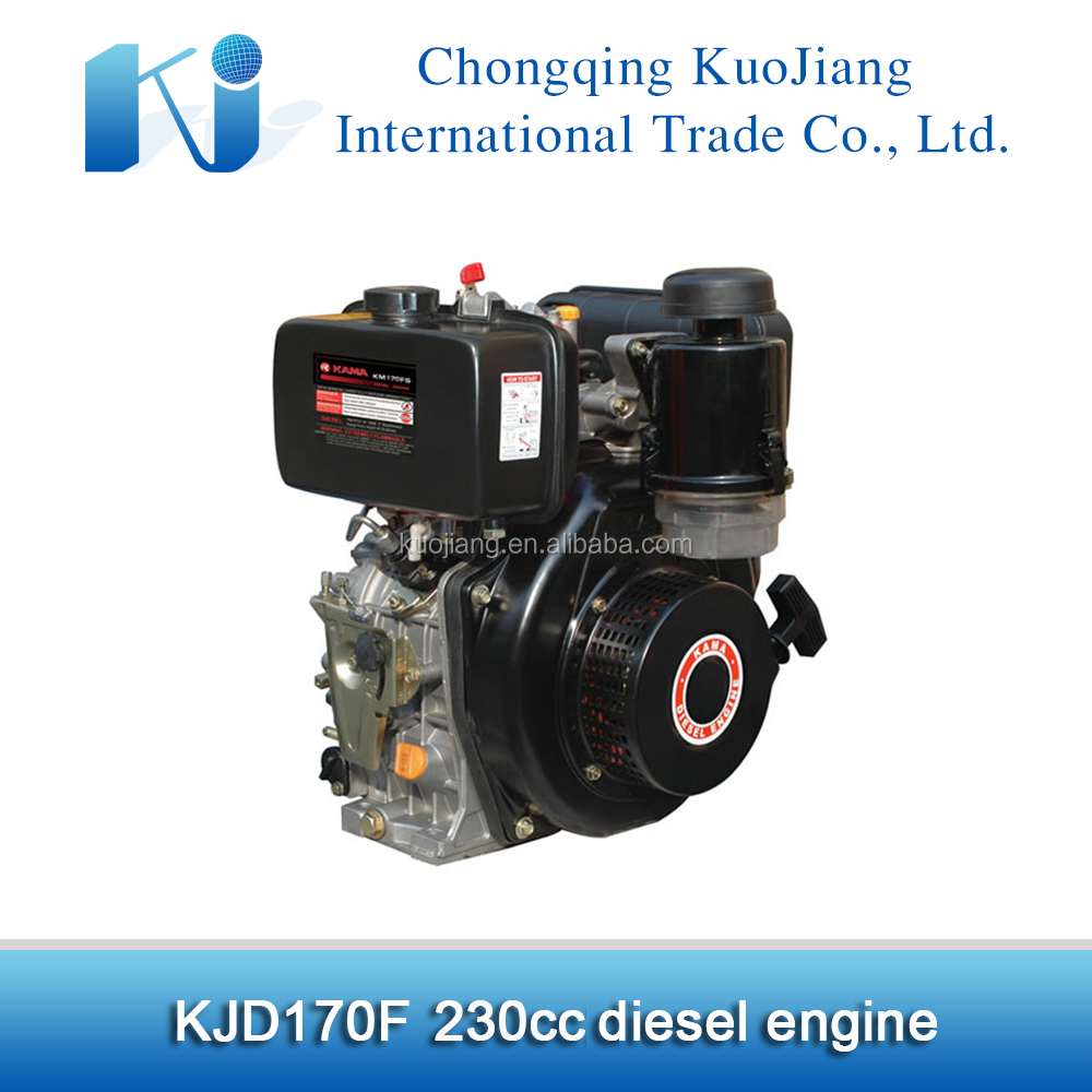 Recoil start 4hp air cooled diesel engine KJD170F for sale