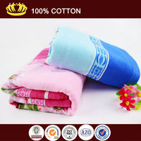 wholesale100% cotton sublimation terry velour cotton printed bath towel