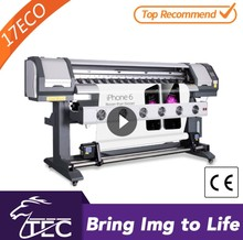 new design 1.8m High precision digital banner light cloth printing machine