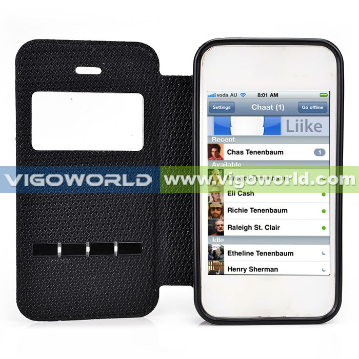 case for iphone 4s,vigoworld Slide collection cell phone case-quick to answer the phone by slide your finger with good price