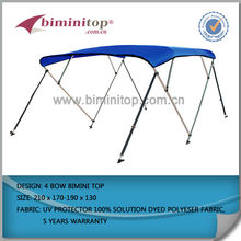 4 bow bimini top for boat with 600D polyester fabric popular in market