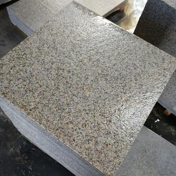 Chinese cheap patio paver stones G682 granite pavers yellow rusty cubes stone