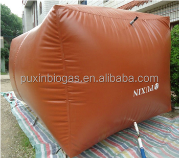 Durable biogas storage bag