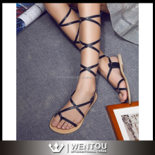Wholesale Fashion Greek Lace Up Sandals