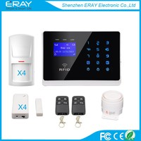 Enlish/French/German/Spainish language for option GSM Alarm System Home Security Alarm system With Android App
