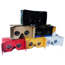 3d vr glasses virtual reality google cardboard 2.0 with 37mm biconvex lens