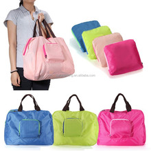 Factory OEM Portable Large Capacity Polyester Foldable Travel Duffel Bag