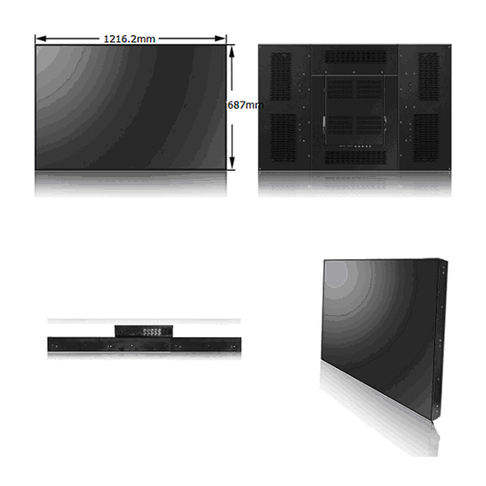 55 inch full HD video wall display with 2.8mm bezel