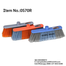 HQ0570N bright plastic vassoura orange color deck push broom