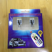 Factory direct the latest remote control color changing T10 led
