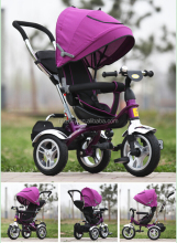 Multfunctional mom and baby tricycle kids tricycle with umbrella for 6months-6years old baby