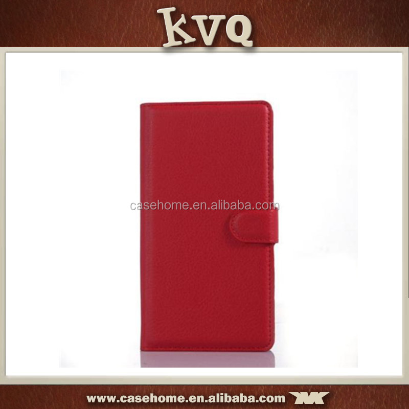 Leather wallet flip case cover for lenovo a390 , smart leather cover case for lenovo , slim cover case for lenovo p780