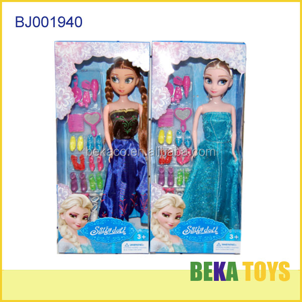 Customize wholesale barbiee doll pretty elsa and anna dolls lovely frozen princess dolls