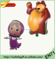 Offer CE and EN71 approved Masha & The Bear shaped cartoon balloons ,helium balloons , Foil balloons wholesale