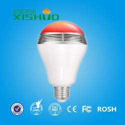 hot sell remote control stereo audio LED led light bulb wireless bluetooth speaker with CE INMETRO