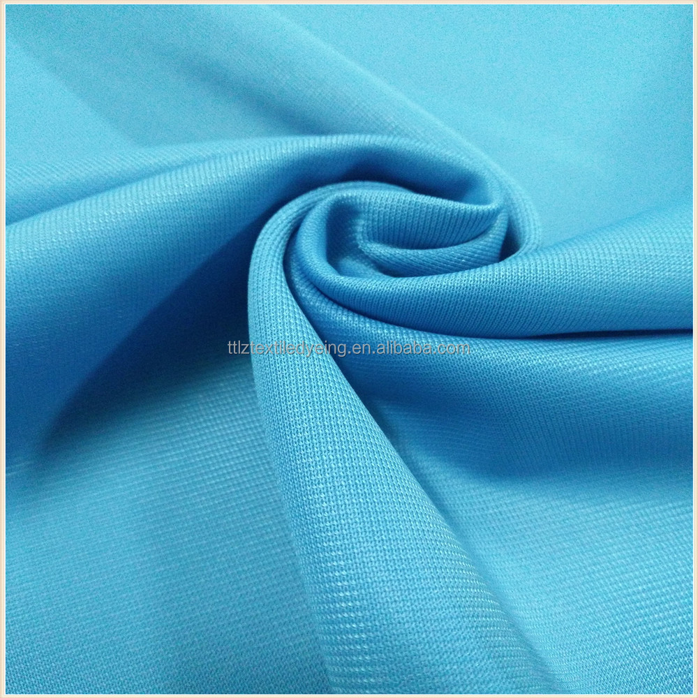 one side brushed fabric tricot super poly fabric color blue