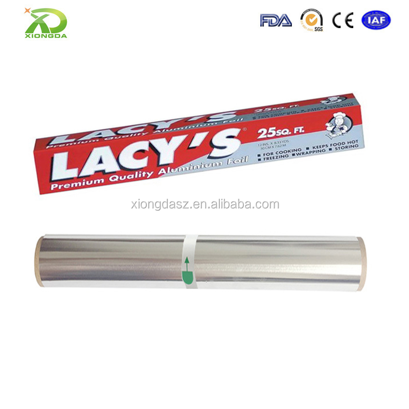 Food grade 8011 alloy 20 micron aluminum foil pizza box