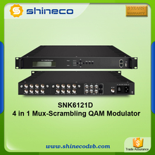 4 in 1 DVB-C Transmodulator with Mux-scrambling QAM Modulating in one Device