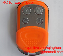 Orange metal Duikao 315MHZ/433.92MHZ remote control ZL-JSKB, buttons are ABCD (with shading) upper/lower lock/unlock the latch s