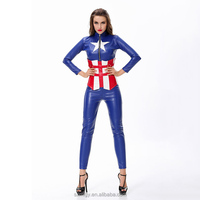 Blue suit woman warrior cosplay costume