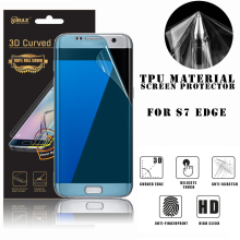 2017 mobile accessories full cover tpu screen protector for samsung galaxy s7 edge