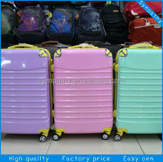100%abs PC trolley case/ computer luggage trolley bag