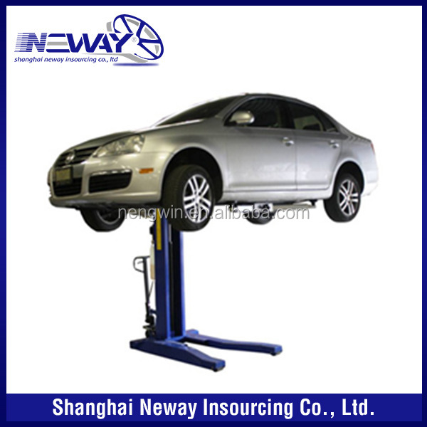 Save space 2500kgs one post portable car lifts