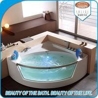 New hot tub sex acrylic corner massage bathtub