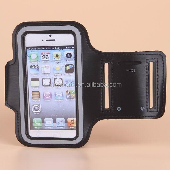reflective cell phone sport black armband case for phone armband for iphone