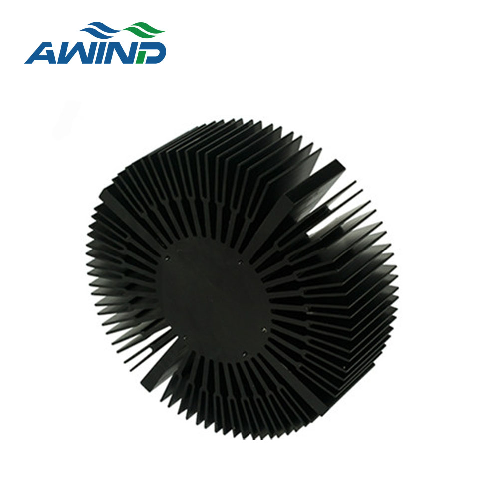 round heat sink extrusion heat sink profile for led lamp