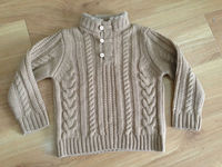 Nice cable knit baby wool sweater design