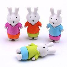 New design animal cute lovely rabbit shape topper pencil eraser