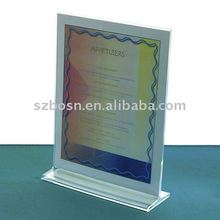 Tabletop Acrylic Menu Display,Acrylic Menu Stand,Acrylic Menu Holder/Menu Roll