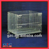 GZC-W611 warehouse factory storage foldable wire cages