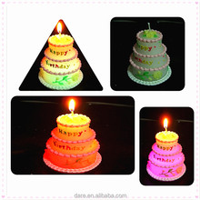 LED paraffin wax birthday sparkling candle with cotton wick