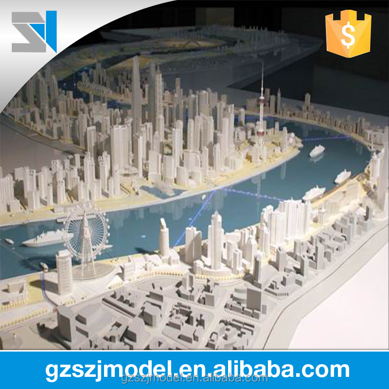 ABS plastic building model making, residential model layout for promotion