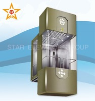 13person 1000KG Sightseeing panoramic lift elevator for residential building