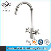 2015 Top Sale Double Levers Brass Kitchen Tap Mixers