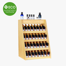 Four Tiers Custom Wooden Essential Oil Display Rack For Cosmetic Store Wholesale
