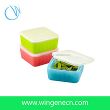Travel Indispensable Folding Silicone Food Container/Easy Carry Silicone Foldable Lunch Box