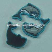 The dolphins shape rubber Custom refrigerator magnets