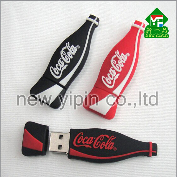 New Yipin Creative promotional gifts Bottle Cartoon U Disk 4GB/8GB/16GB LOGO Customized USB Flash Disk