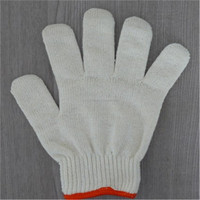 Hot sale natural white cotton knitted working gloves-600g