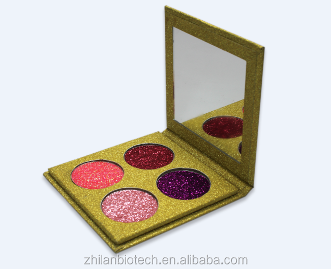 custom popular design 4 colors tone and high pigment eyeshadow