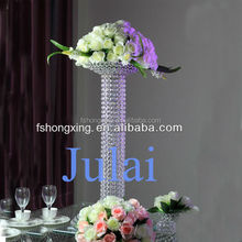WD6 Crystal pillar flower stand, View Crystal beaded flower stand for wedding or party decoration