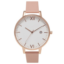 Classic fashion custom logo brand leather watch women lady
