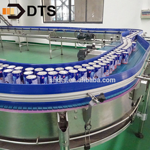 Plastic bottle conveyor belt assembly downstream packing line