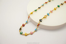 Olivia popular statement evil eye bead new gold chain design necklace for men