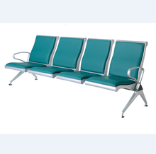 High Quality 4 Seater Airport Office Public Area Steel Waiting Chair with Cushion